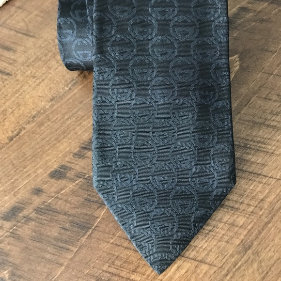 Gucci Black Silk Neck Tie